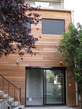 Agrandissement en ossature bois r gions parisiennes for Agrandissement maison ossature metallique
