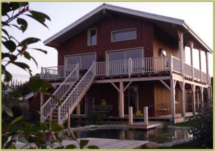 Construction maison bois massif type chalet