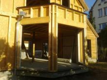 Bow window fabrique en ossature bois