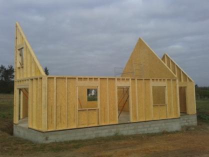 Conflans sainte honorine 78 montage des pignons maison en ossature bois