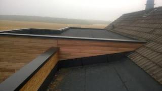 Detail etancheite toit plat sur agrandissement