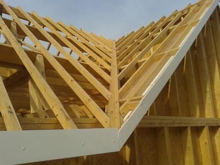 Construction dans les yvelines d 39 une maison en ossature bois for Construction en bois details