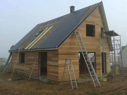 Elbeuf avancement des travaux de construction maison bois