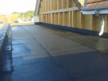 Etancheite de toit plat sur maison bois 1