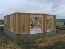 Facade sud maison ossature bois