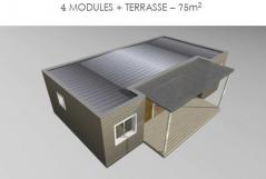 Haiti 4 modules ossature bois terrasse
