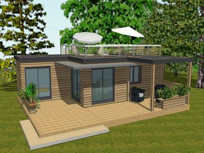 H l l habitation l g re de loisirs campings et particuliers - Prix d un chalet en bois ...