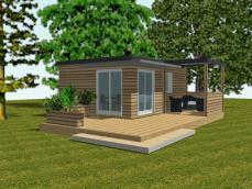 Hll avec terrasse simple et ouverte