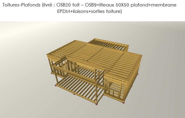 Détails de la structure en ossature bois HLL Haîti