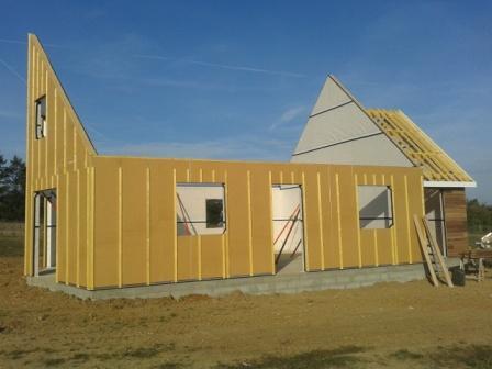 Construction de maison fabriqu e en ossature bois evreux - Isolation maison ossature bois ...