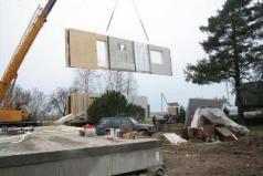 Livraison de l'ossature bois sur chantier