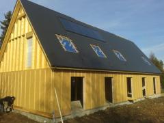 Maison bois isolation exterieur pose bardage