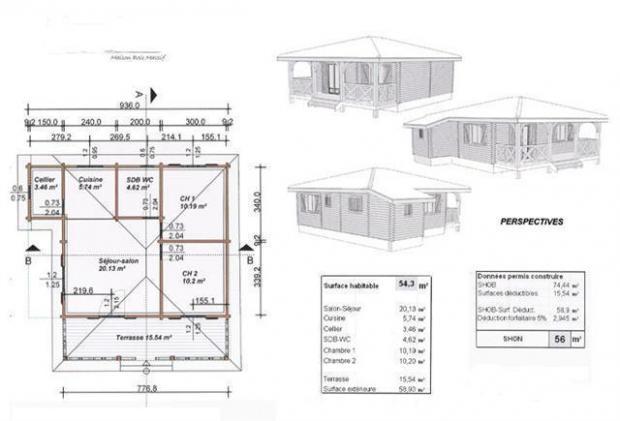 Plan maison en bois mod le epic a toiture quatre pans for Plan toiture maison
