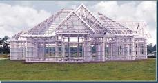 Maison construite en ossature metallique