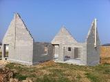 Maison individuelle construction des murs en maconnerie
