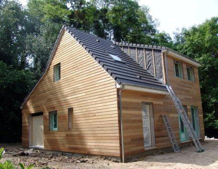 Maison ossature bois construite a rouen 1