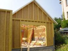Maison pose de l ossature bois