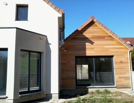 Bardages habillage ext rieur des fa ades des murs en bois for Bardage de facade maison