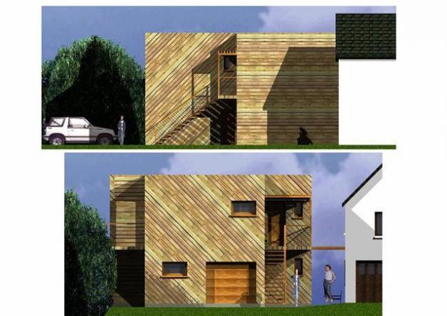 Plan d 39 habitation moderne mod le ile de france for Modele maison ile de france