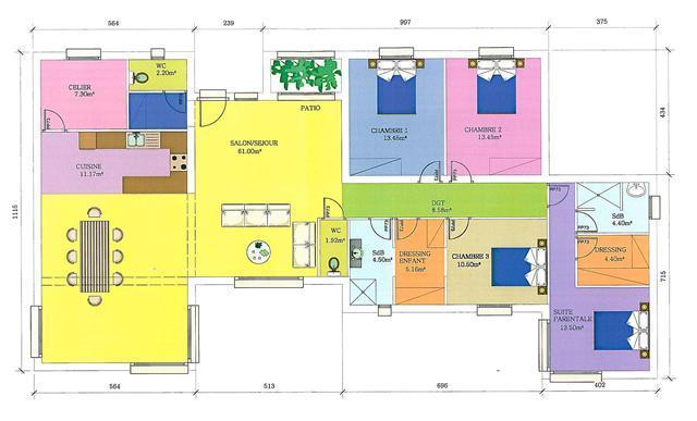 Plan maison interieur maison moderne for Exemple de plan maison