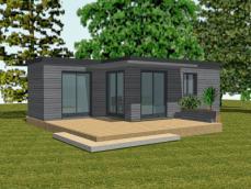 Module avec chambre et terrasse