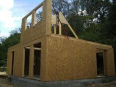 Montage de l ossature bois maison bois rouen 1