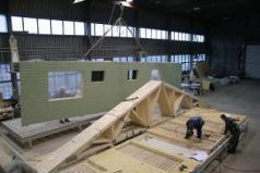 Panneaux ossature bois construits en atelier