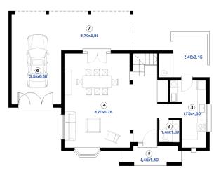 Plan maison ossature m tallique mod le marina tage duplex for Plan maison duplex
