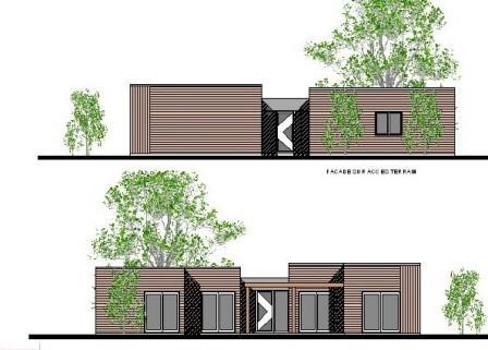 plan maison metallique mod le moderne steel en plain pied. Black Bedroom Furniture Sets. Home Design Ideas