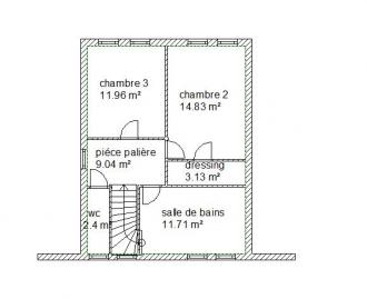 Plan etage habitation chatres