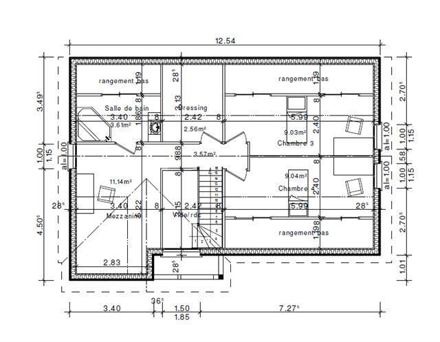 Plan d 39 habitation mod le val d 39 oise for Plan de construction maison