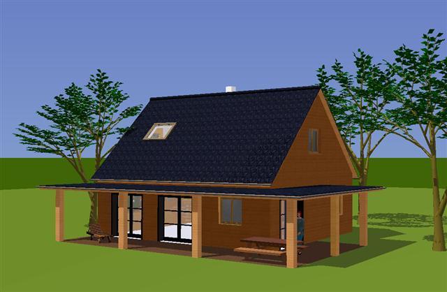 Plan d 39 habitaiton mod le nina avec grande terrasse for Plan habitation