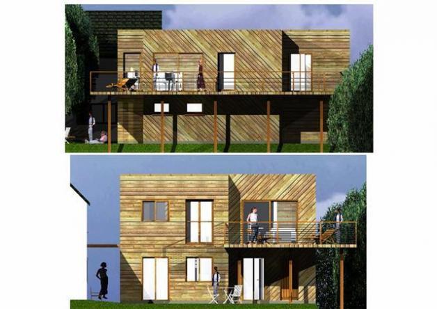 plan d 39 habitation moderne mod le ile de france. Black Bedroom Furniture Sets. Home Design Ideas