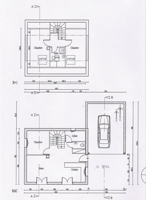 Plan de maison gratuit mod le eure for Plan amenagement interieur maison gratuit