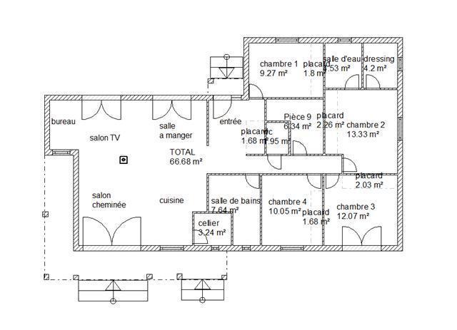 Plan d 39 une grande habitation en l mod le velda for Plan maison d habitation