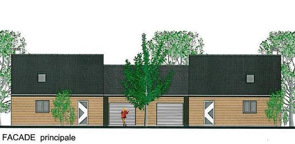 Plan de maison jumell e mod le gratuit jumella for Modele maison mitoyenne