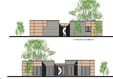 plan maison moderne ossature m tallique mod le urban steel. Black Bedroom Furniture Sets. Home Design Ideas