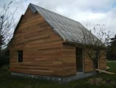 Pose de la sous toiture maison bois normandie