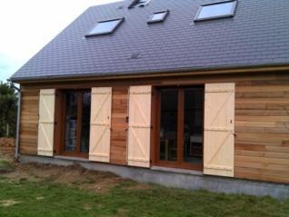 construction d 39 une maison ossature bois en normandie. Black Bedroom Furniture Sets. Home Design Ideas