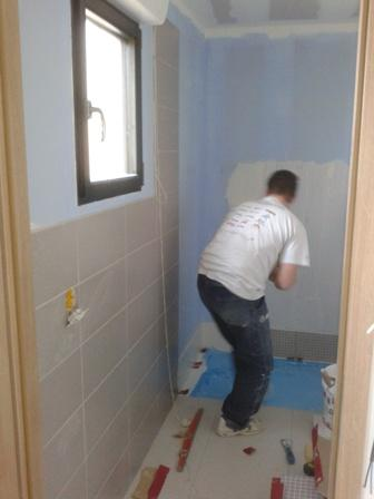 Travaux d 39 am nagement int rieur maison bardage de couleur for Pose faience douche