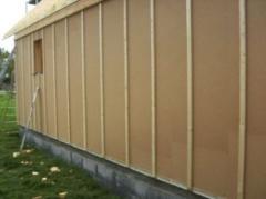 Pose isolant extérieur sur structure bois
