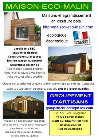 Qui est maison eco malin un constructeur de maisons ecologiques