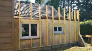 Rehaussement des murs et isolation exterieure