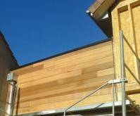 Sortie eaux pluviale sur toiture terrasse de maison en bois 1