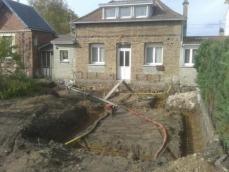 Terrassement vide sanitaire pour agrandissement maison à Rouen