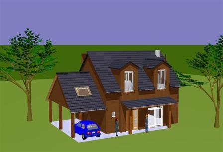 Plan d 39 habitation mod le tatiana tage avec rabagrain for Plan maison d habitation