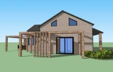 Vue 3d maison bois yvelines