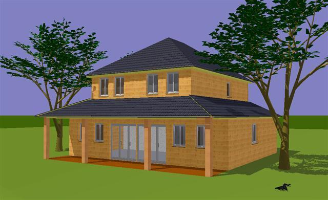 Plan habitation mod le chartres tage au centre et terrasse for Plan habitation