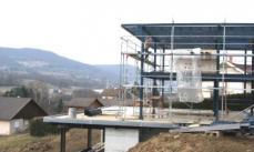 Vue d ensemble de la structure porteuse en acier