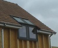 Vue exterieur de la fenetre de toit